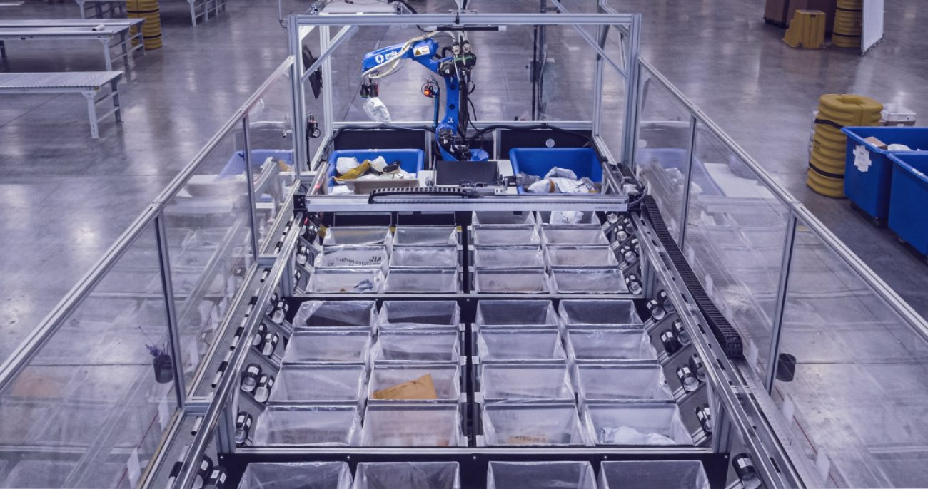 AmbiSort pick and pack parcel sorting robotic system